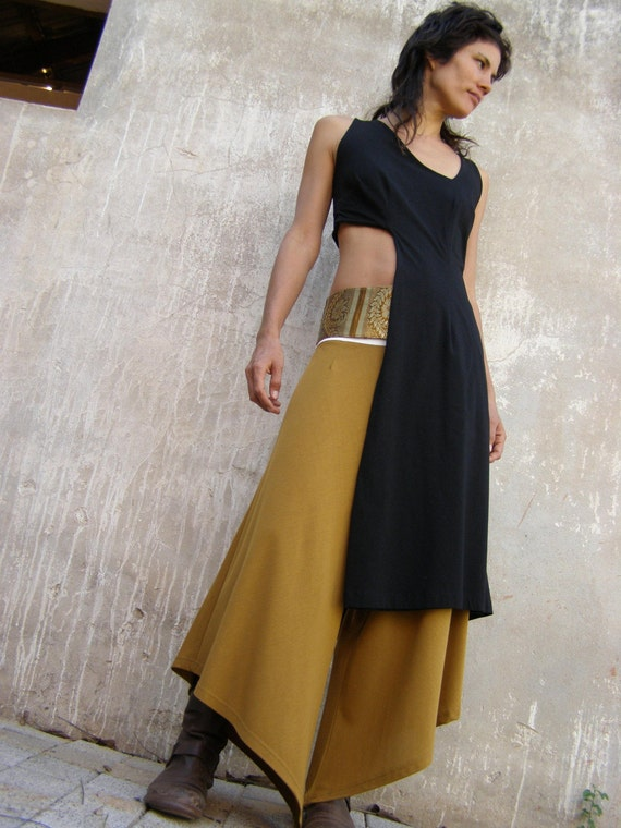 Unusual summer black dress-Asymmetrical women's dress-Designer dress-Layered womens dress-Prom dress-custom dress-womens black dress