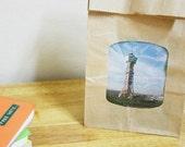 Set of Natural Lightweight Kraft Paper Bags (See Through Type)