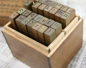 Schoolbook Style Alphabet Wooden Stamp Set (Lowercase Letter)