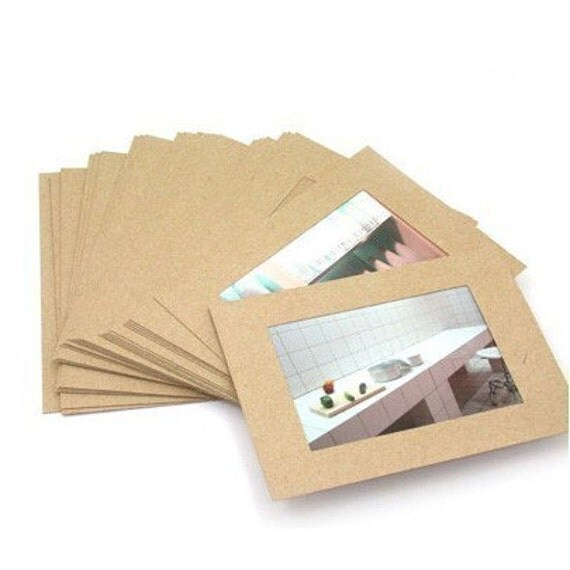 Simple Kraft Paper Photo Frame Package (30EA)