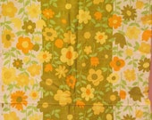 "Vintage Fabric 1 1/2 yards x 44"" wide Cotton Floral Print SALE"