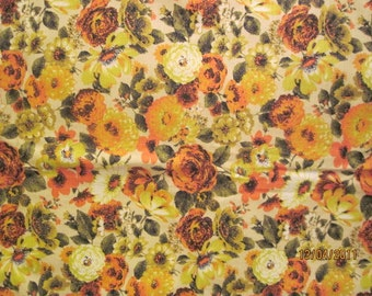 "Gorgeous Vintage Fabric Drapery weight 1 1/2 yards x 46"" wide"