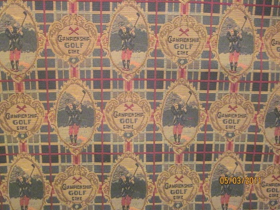Golf Tapestry Fabric 1 1/2 yards x 54, very nice more available SALE