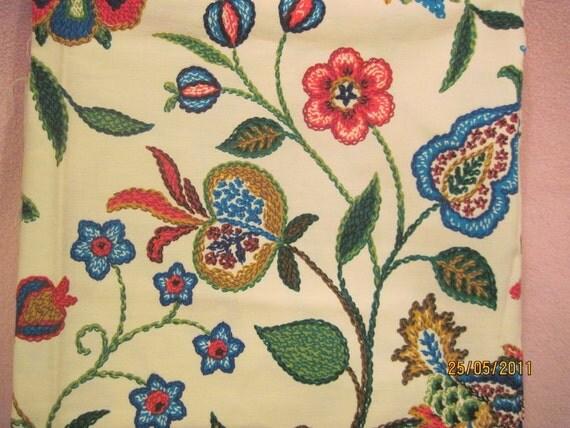 "Vintage Fabric 1 1/4 yards x46"" wide, light upholstry"