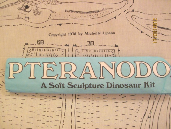 Vintage Panel Pterandon Dinosaur Kit 50 inch wing span once finished by Michelle Lipson 1975 SALE
