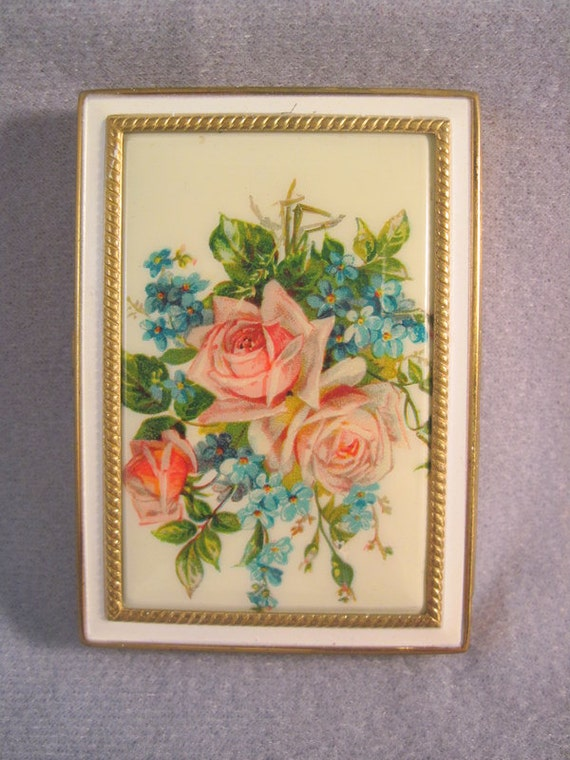 Vintage Compact Rex Fifth Ave Stunning Roses SALE
