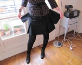 "SALE ! - ""Dumbo"" handmade black pleated skirt"