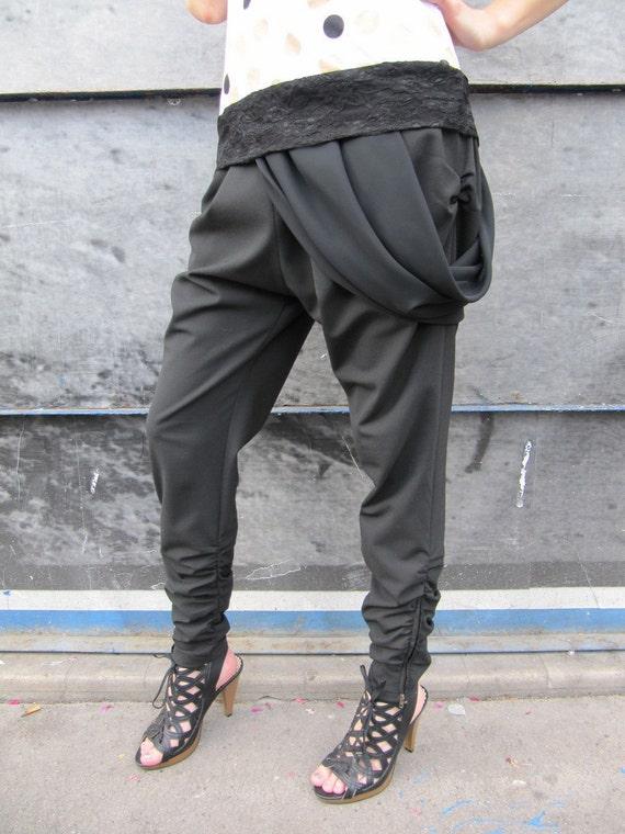"SALE ! - ""Black Tulip"" Street haute couture Sarouel"