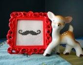 Handlebar Moustache in Red Frame