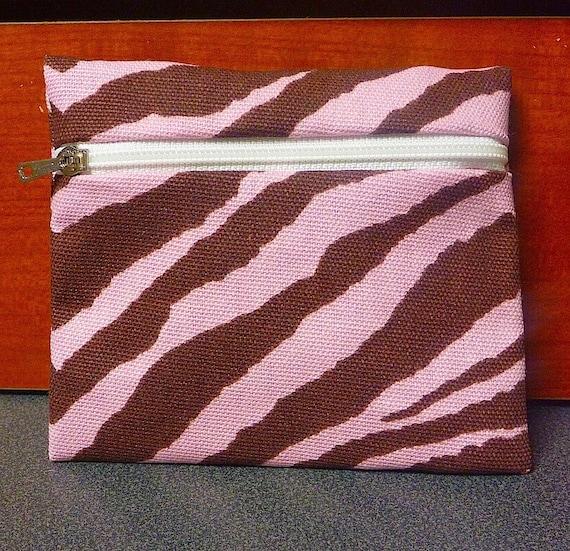 Pink Zebra Print Coin Purse