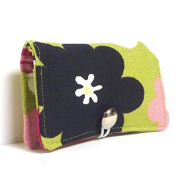 Business Card Holder Gift Card Holder Credit Card Holder FLOWER POWER