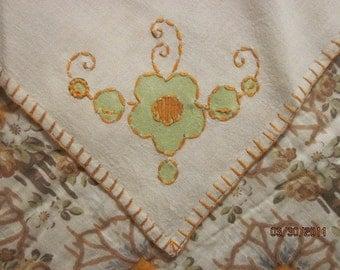 4 Piece Handmade Applique and Needlework Napkin Set