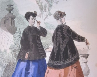 Fashion Plate Print from The Young Ladies Home Journal November 1867