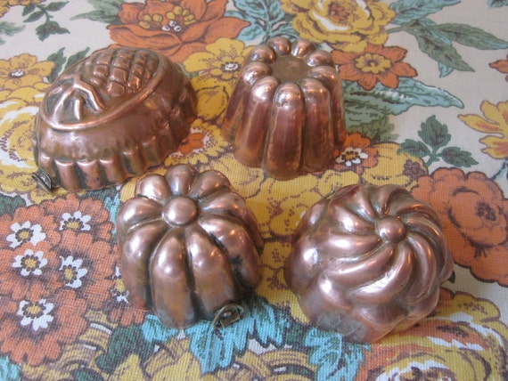 Reserved for SherriVintage Copper Molds From Italy
