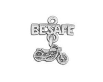 Liquidation 3 Twilight  inspired Be Safe Linked Sterling Silver plated pewter charm