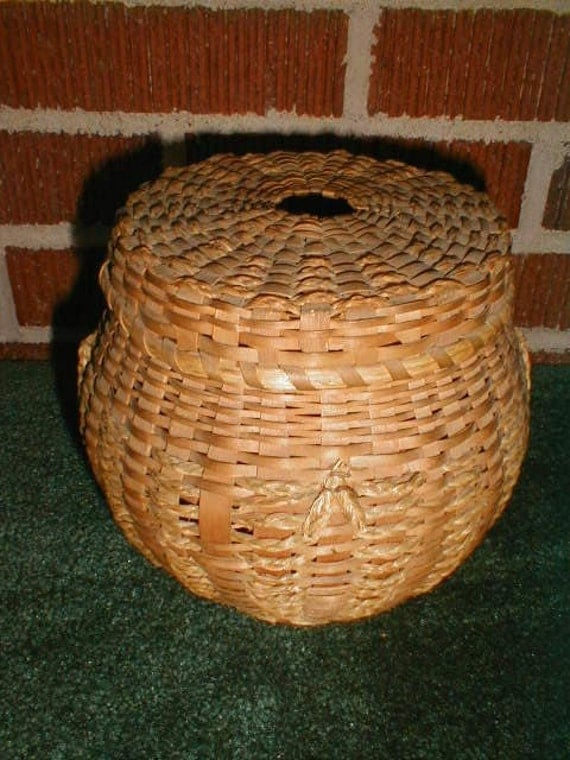 Knitting Yarn Holder : Vintage s yarn holder basket for knitting or crochet