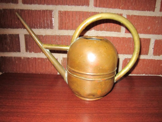 Vintage 1920s/30s Art Deco Fabulous Copper and Brass Watering Can by Chase