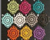20pcs - Mix and Match Multi color Hand painted filigree lace pendant drop connector link earrings