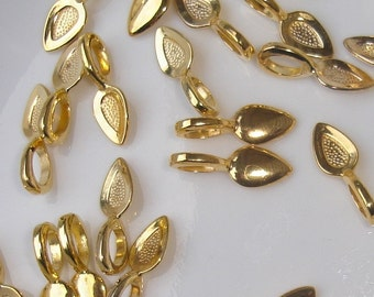 SALE - 50 - Gold plated Glue on Large Bails for scrabble or glass tiles Lead free, Nickel Free