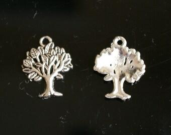 20 pcs - Antique Silver tree charm Pendant  - lead free, nickel free, cadmium free