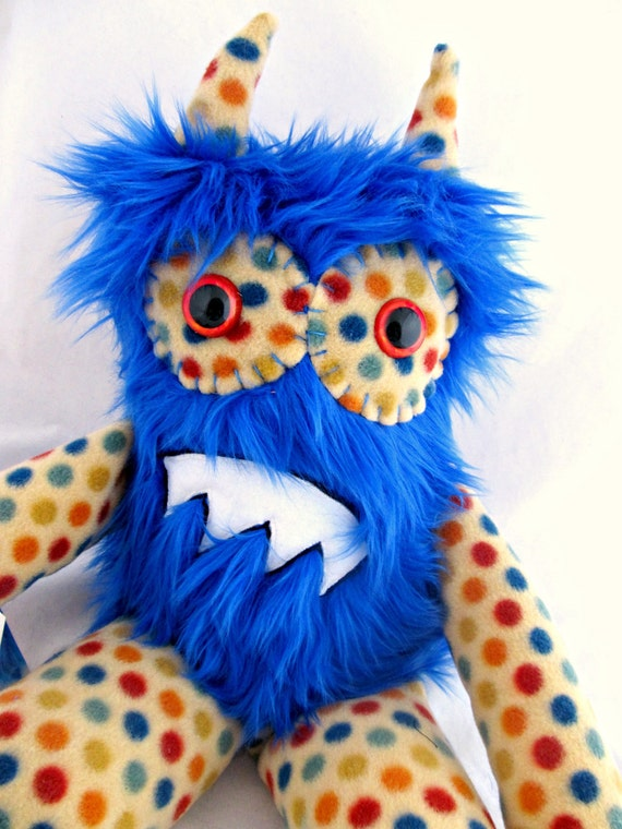 Plush Monster HECTOR handmade one of a kind stuffed doll plushie