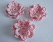 Crochet flowers - pink