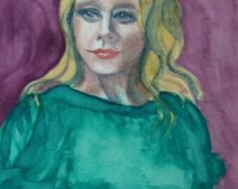Original Painting - Watercolor - Title - Portrait No. 4