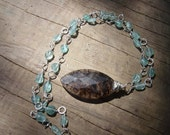 Apatite and Smokey Crystal Pedant Necklace