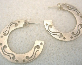 The Decorated Gypsy - silver matte earrings
