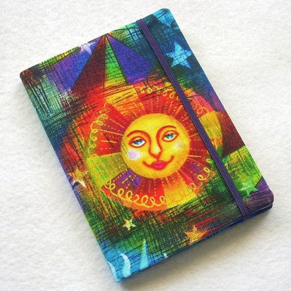 Fabric Book Cover With Pocket : Fabric covered pocket memo book refillable mini composition