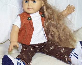 Oh Canada  slacks, tee and vest for American Girl