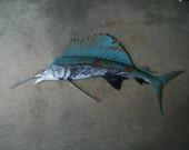 Sailfish Metal Wall Art Fish sculpture  Beach Coastal Tropical Ocean
