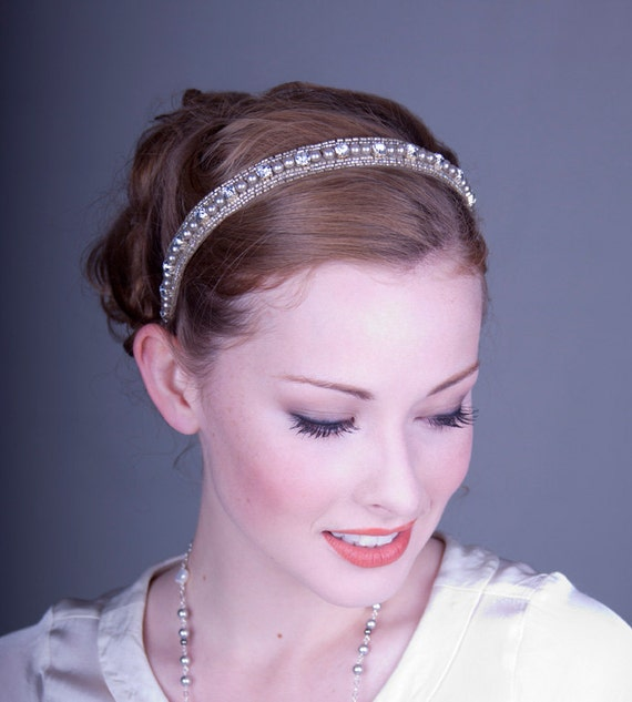 Juliet Pearl and Rhinestone Headband
