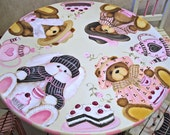 Reserved listing custom teddy Bear and Bunny Tea party Table and Chair Set