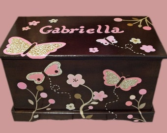 Custom Designed Butterfly Toy Chest