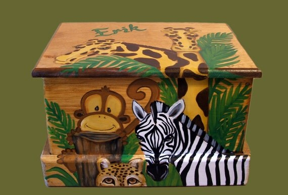 Custom Jungle Treasure chest, or small toy chest