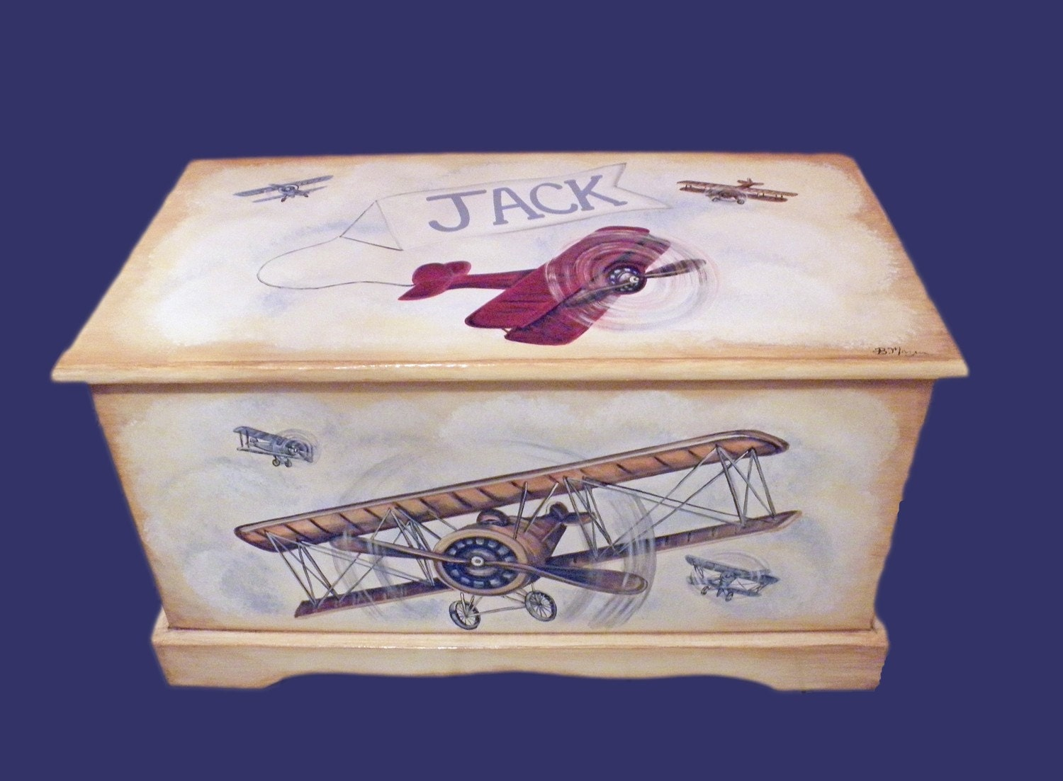 Woodworking airplane toy box plans PDF Free Download