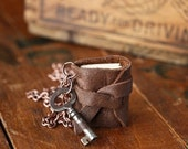 The Rustic Traveler - Mini Leather Journal Necklace