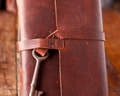 Leather Journal with Skeleton Key Closure - Rustic Travel Journal