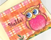 Hello, Owlet Note Cards Set of 8