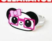 LAST ONE - CLEARANCE Little Nerdy Girl Panda Ring