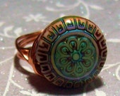 Mood Ring Wire Wrapped Copper Silver Novelty Ring