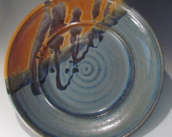 Stoneware Pottery Platter Medium size in Joe's Blues glaze