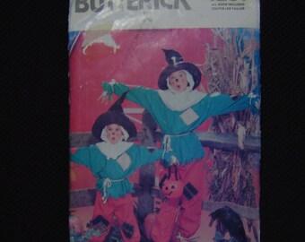 Scarecrow Costume Boys Girls Wizard of Oz Halloween Multi Size Butterick 4287