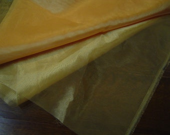 Goldenrod Yellow Sparkle Organza Sheer