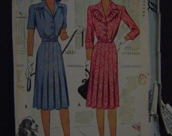 1940s Dress McCall Pattern 5302 Size 16