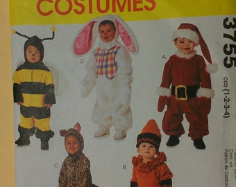 Toddler Costume Bee Rabbit Santa Cat Clown McCalls 3755