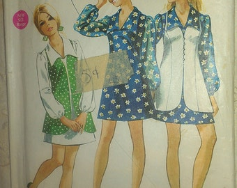1970s Mini Dress and Vest 11/12 Simplicity 8710