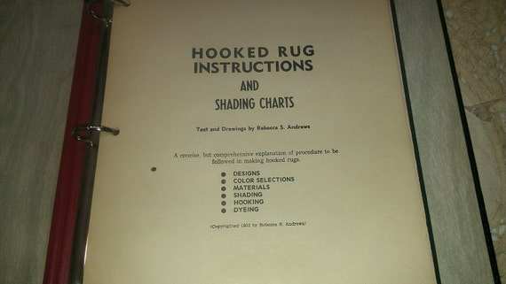 RESERVED for Katrina Book Rug Hooking Instructions Very Old Very Wonderful with a Bonus see description