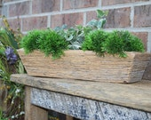 Reclaimed and Recycled Barn Wood Rectangle Deep Barn Wood Tray, Planter or Bowl